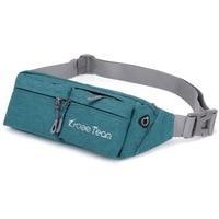 2019 new design 1.5L waterproof nylon fabric leisure running gym use fashion waist bag 6 inch for men&women with adjustable belt