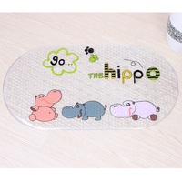 Baby Kids Child Cartoon Anti Slip PVC Bath Mat Bathroom Safety Non Slip Suction Cups Carpet