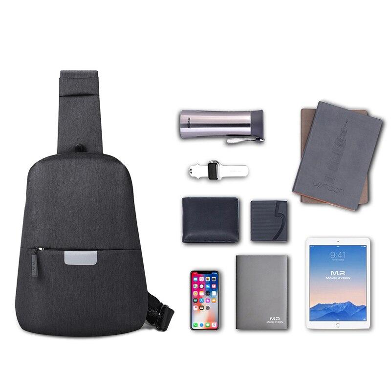WIWU Crossbody Bags for Men Messenger Chest Bag 12