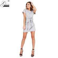 583487d69b6 Add to Wish List. Gold Hands Casual Black Striped Mini Women Dress Four  Colored Loose Bandage Summer Weather A-