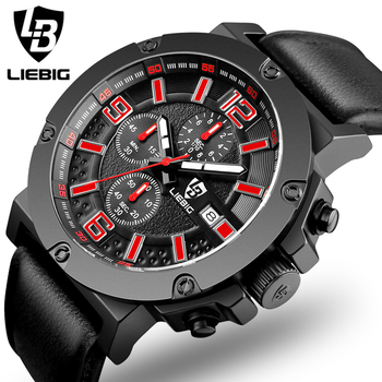 Chronograph Quartz Military Wrist Waterproof Watch