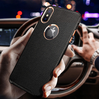 Musyue Genuine Leather Case For iPhone XR Xs Max Luxury Leather Case For iPhone 7 8 8 Plus X Phone Cover Coque Phone Accessories