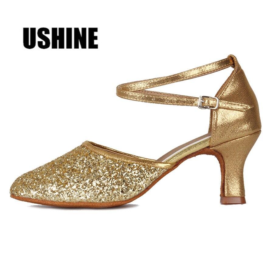 MF1802-5 Silver Black Heel 7cm/5cm Salsa Tango Dancing Shoes Latin Dance Shoes For Women