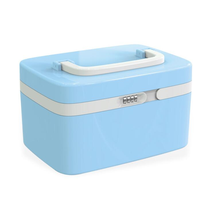 Locked home medical box health first aid kit plastic small password medicine box medicine storage box new gbj free shipping home aluminum medical cabinet multi layer medical treatment first aid kit medicine storage portable