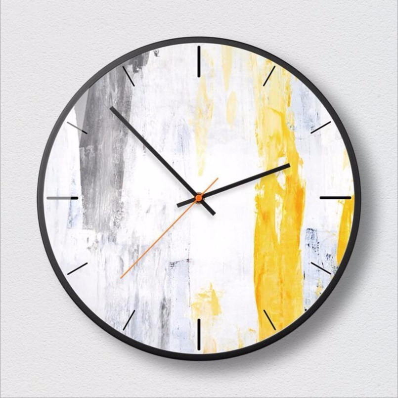 New 3D Big Wall Clock Abstract Art Wall Clock Large Size Creative Fashion Decorative Clock Modern Design For Bedroom Living Room