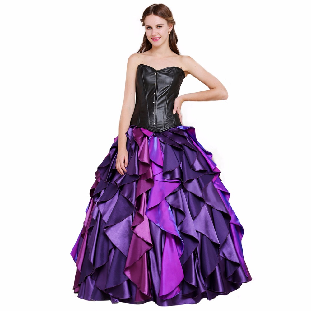 cosplaydiy the little mermaid sea witch ursula dress corset costume halloween costume women wedding dress l0516 - Halloween Costumes Prices