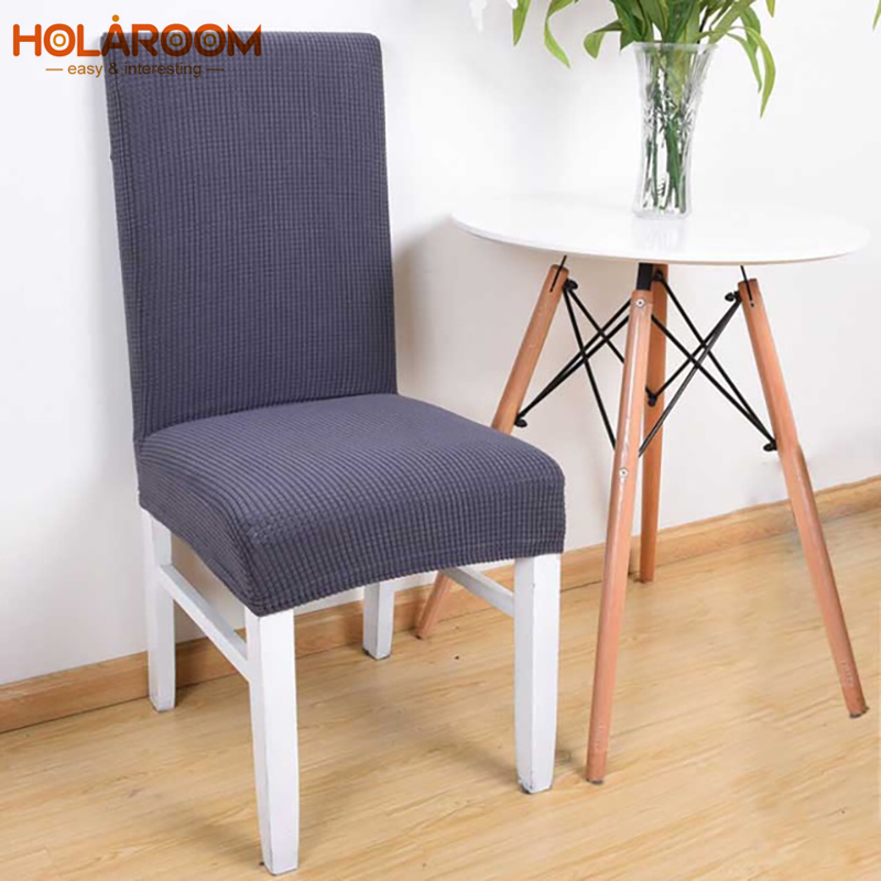Solid Color Chair Protective Case Spandex Stretch Polyester Banquet Dining Room Chair Cover Anti-dirty Seat Cover For Restaurant