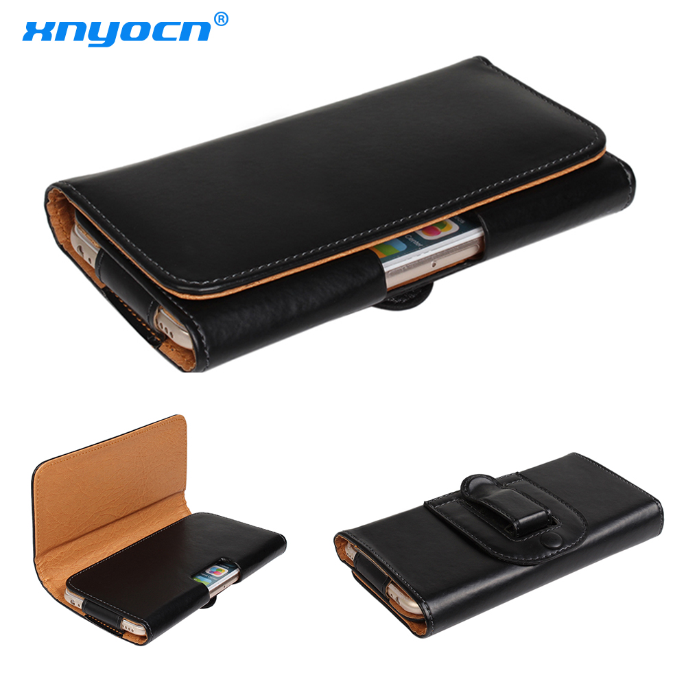 Universal Genuine Leather Belt Clip Phone Pouch Bag for IPhone X 8 7 Plus 6s S8 Vernee Thor Oukitel K6000 Plus/Blackview P2 Lite