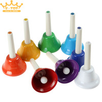 8Pcs Set Colorful Musical Instrment Hand Bell 8 Note Musical Toy For Children Baby Early Education