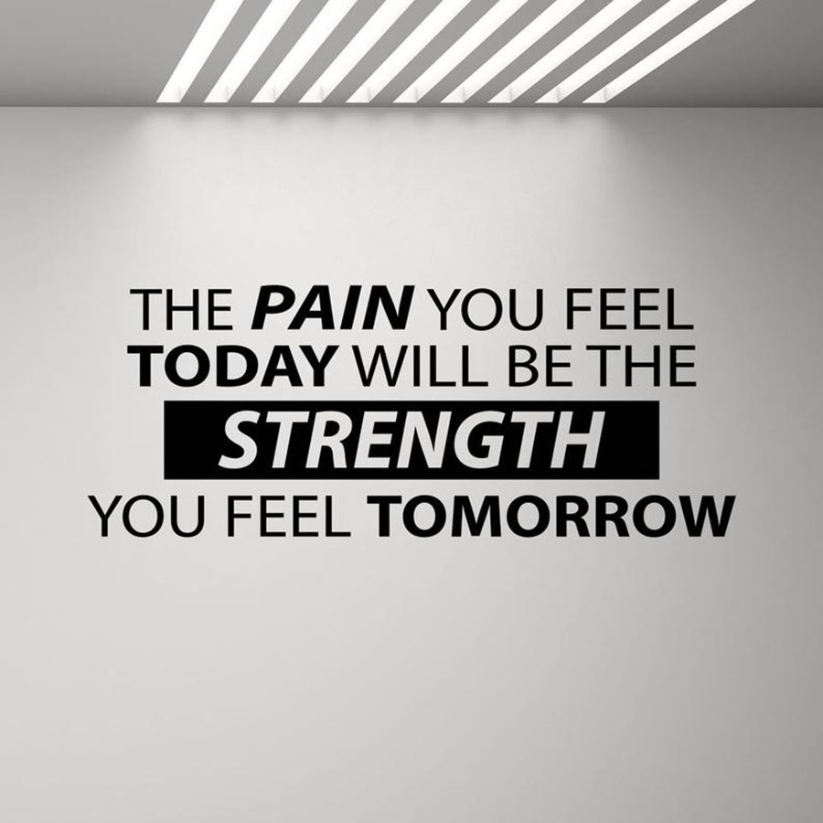 The Pain You Feel Today Will Be The Strength Wall Decal Sign Gym Quote Workout Poster Fitness Office Vinyl Sticker Decor C155 image