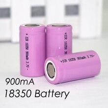 Bateria de Lítio 3 PCS .. ICR 18350 900 MAH 3.7 V Lâmpada Cilíndrica Baterias Cigarro Eletrônico Recarregável
