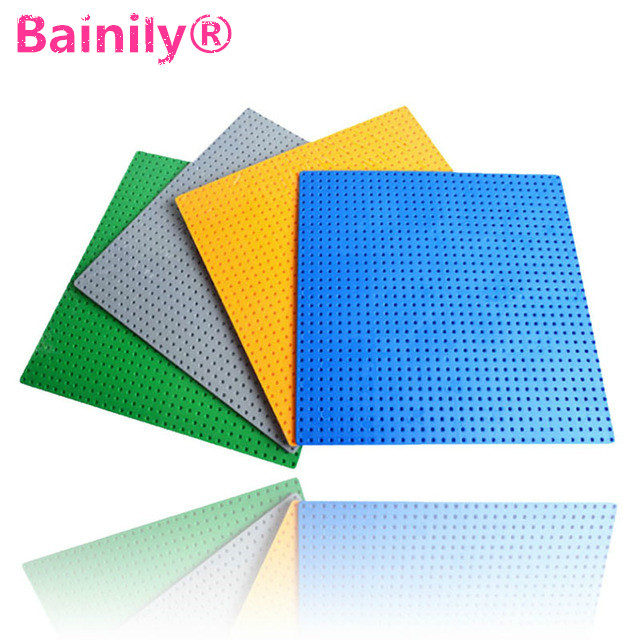 [Bainily]4Pcs/lot 32*32 dot Small Particles Building Blocks Base Plate Baseplate Kids Bricks Baseplate Compatible With LegoINGly 32 32 dots brand compatible small bricks blocks base plate 25 5 25 5cm kids diy educational building baseplate toys gift