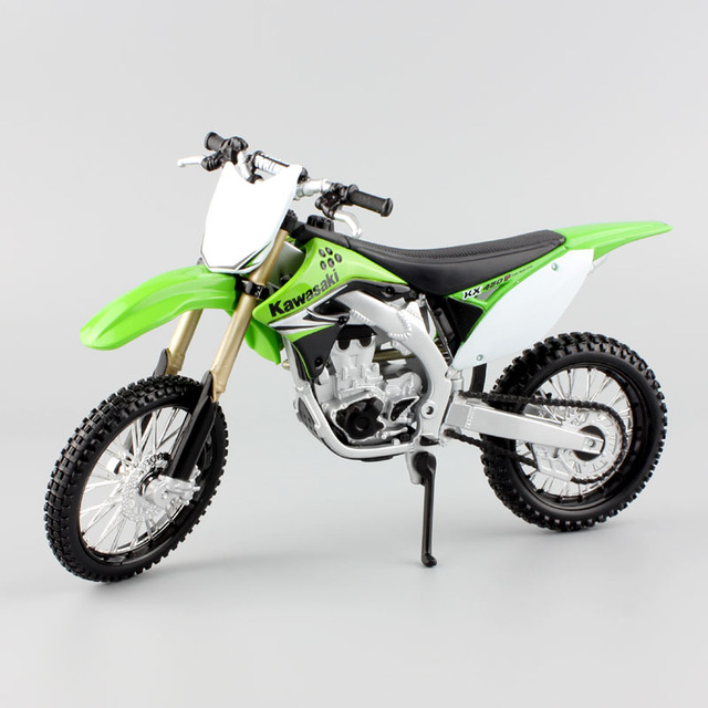 112nd Kids Motorcycle Kawasaki Kx 450fcast Model Off Road Miniature Dirt Motocross Metal Sport Bike Models Race Toys