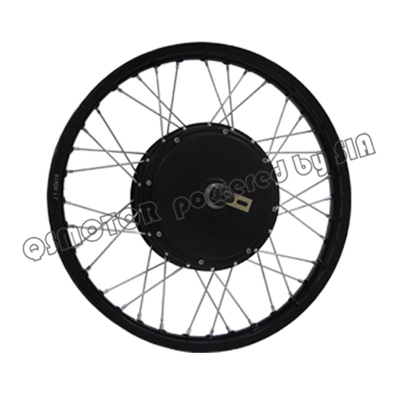 QS Motor Bicycle Spoke motor 3000W 205 50H V3 Type Hub Motor lacing with wheel rim 19inch 18inch 17inch|Motors| |  - title=