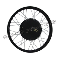 QS Motor Bicycle Spoke motor 3000W 205 50H V3 Type Hub Motor lacing with wheel rim 19inch 18inch 17inch|Motors| |  -
