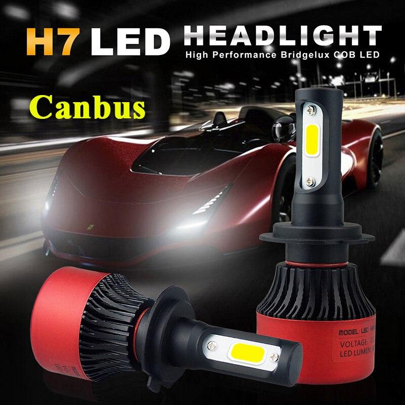 canbus h7 led headlights 72w 16000lm led fog light. Black Bedroom Furniture Sets. Home Design Ideas