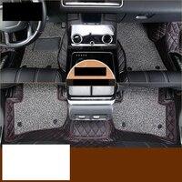 Lsrtw2017 волокна кожи автомобиль Этаж Интерьер коврик для Range Rover велярный 2018 2019