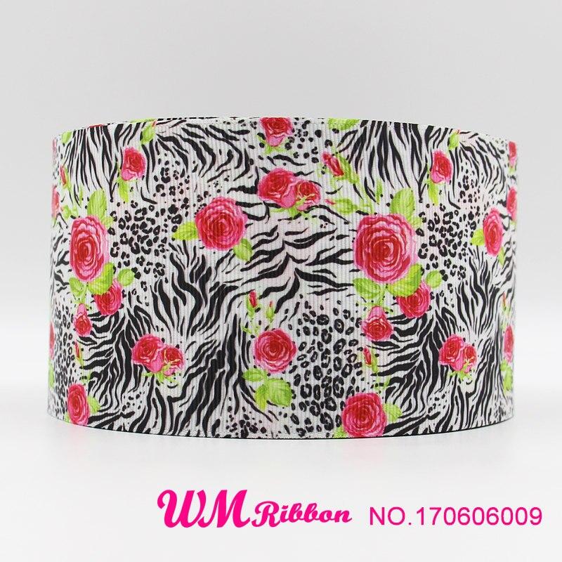 Q N ribbon 3inch 75mm cartoon printed grosgrain ribbon webbing 50yards roll for headband free shipping