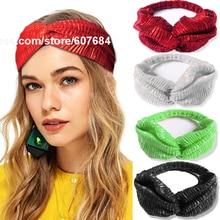 c755c67cc8e Glitter Elastic Stretch Twist Headbands Turban Headwrap Headwear Women  Bandanas Twist Hair Bands Turban Headpieces(