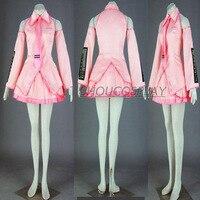 NEW Cosplay Costumes Anime Vocaloid Hatsune Miku 7 Piece Set Lady Pink Dress Wigs Skirt