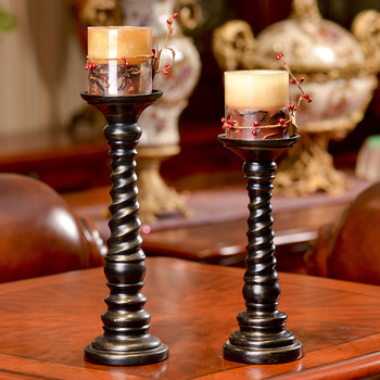 American country Candlestick  Nordic resin handicraft ornaments The living room bridal gift decoration home decor