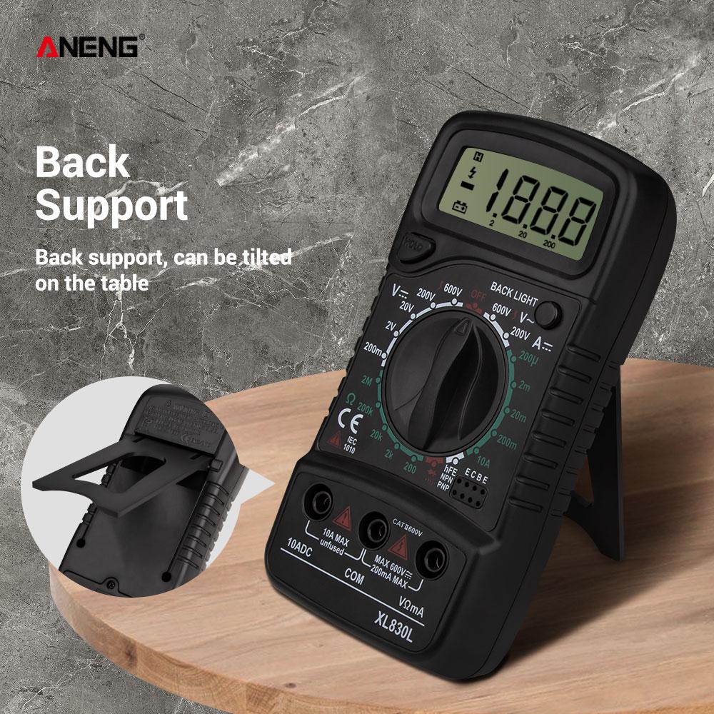 ANENG XL830L digital multimeter esr meter testers automotive electrical dmm transistor peak tester metercapacitance meter