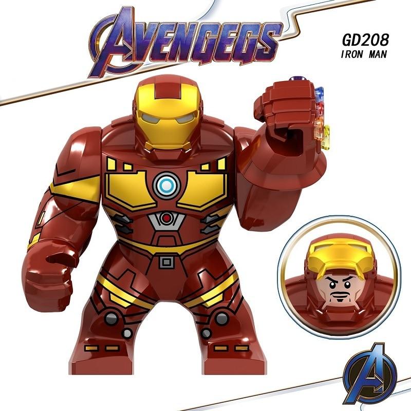 20PCS GD208 Avengers 4 Endgame Iron Man Hulk Big Size Figures Building Blocks Bricks Gift Toys