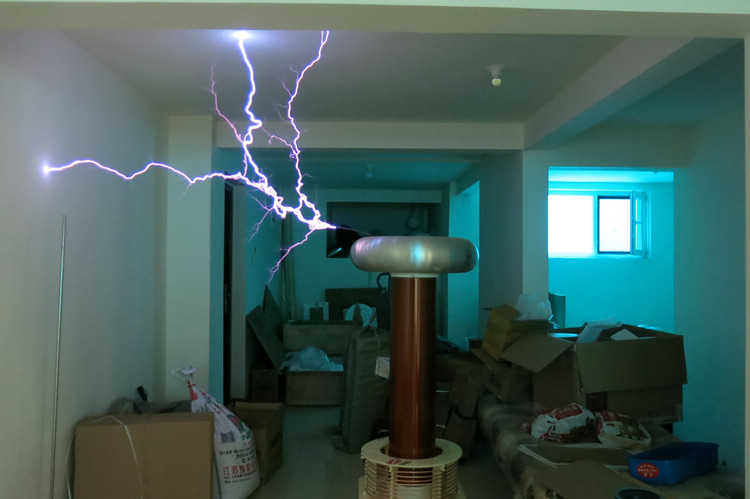 1.8 meter height Tesla Coil DRSSTC Music tesla Arc Flash Lightning physic lab equipment 1 meter arc-in Educational Equipment from Office & School Supplies    1