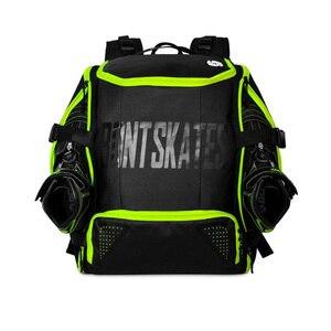 Image 4 - 100% Original Bont Inline Speed Skates Rucksack 28L Professionelle Roller Skating Schuhe Tasche Helm Halter Schutz Knie Pads Tasche