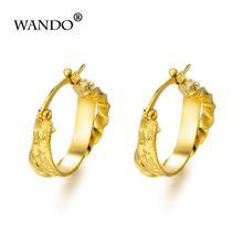 Wando ювелирные изделия золотого цвета круглые серьги для эфиопских/арабских/инидановых/нигерийских