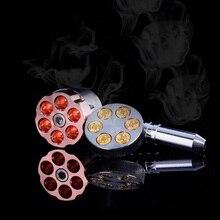 Трубочный револьвер six некурящих сорняк shooter мясорубку дробилка точильщик херб табак