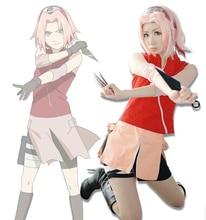 Hot Japanese Anime font b Naruto b font Sakura Haruno font b Cosplay b font Costumes
