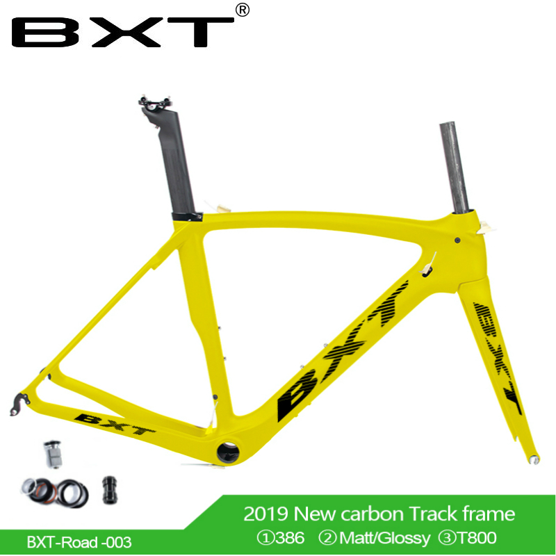 2019 Road Bike Frame Full Carbon Road Bicycle Frame V Brake UD Carbon Frame Size 530 550 Mm 2 Year Warranty Free Shipping
