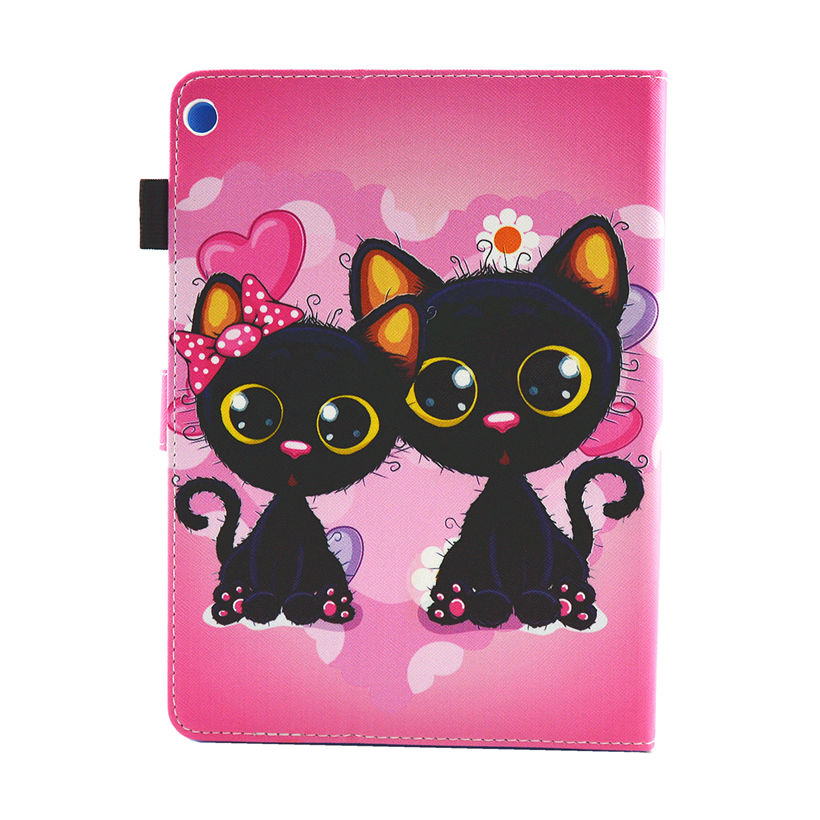 Cat Kitty Pu Leather Shell For Huawei Mediapad M3 Lite