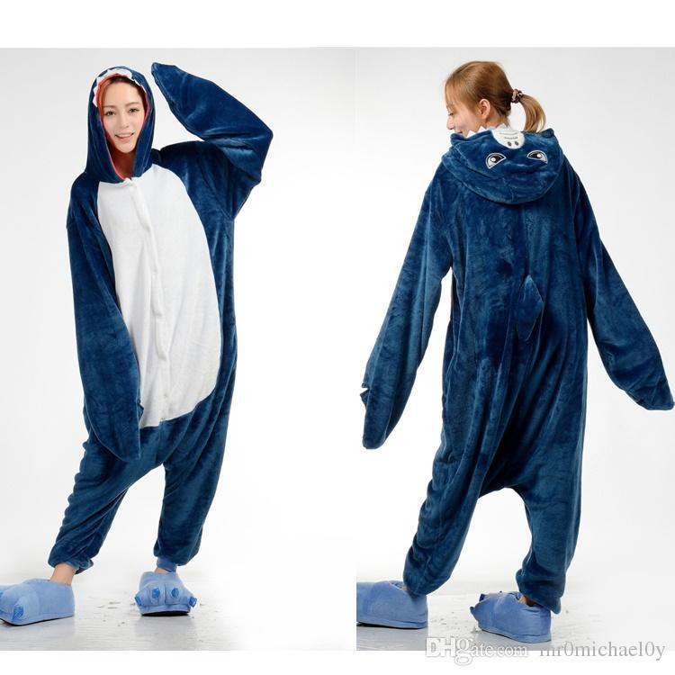 Shark Blue Animal Onesies Pajamas For Adult Cute Women's