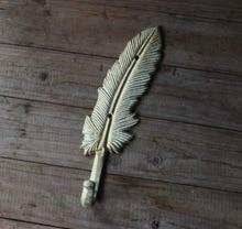 L:23CM  Retro European style feather cast iron wall hook