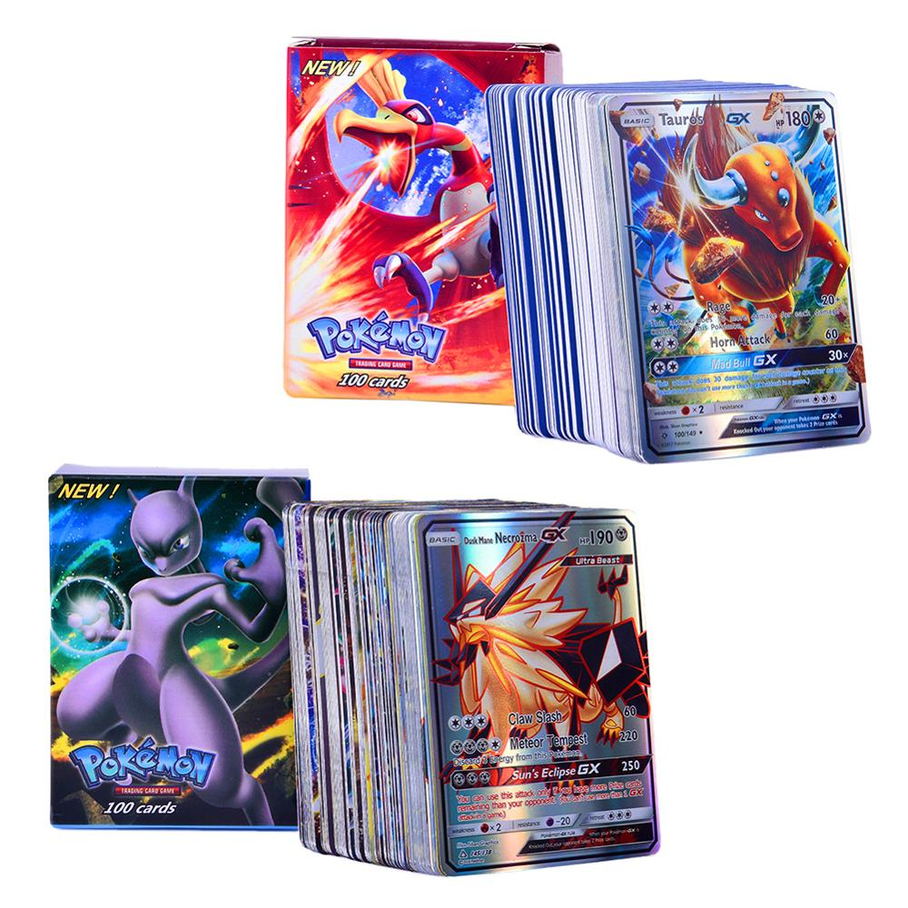 100 Pcs No Repetition For GX EX MEGA Game Cards Toys Battle Carte Bright Energy Trading Cards Collecting Children Toy in Playing Cards from Sports Entertainment