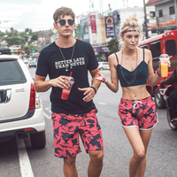Couples Swimwear Mens Board Shorts Red Camo Swim Shorts Men Brand Beach Hawaiian Fashion Polyester Bathing