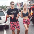 Couples Swimwear Mens Board Shorts Red Camo Water Proof Shorts Men Brand Beach Hawaiian Polyester Bathing Camouflage Shorts
