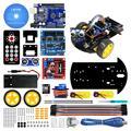 LAFVIN Smart Roboter Auto 2WD Chassis Kit mit Ultraschall Modul, L298N Fahrer Bord, Fernbedienung, IR Control für Arduino UNO DIY Kit