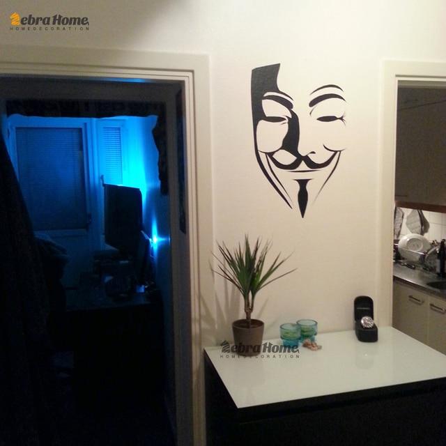 Diy v per vendetta vinile stickers murali adesivi per soggiorno ...