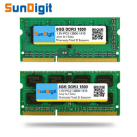 Brand SunDigit Laptop Memory Ram DDR3 1600 1333 MHz 8GB 4GB 2GB For Notebook Sodimm Memoria