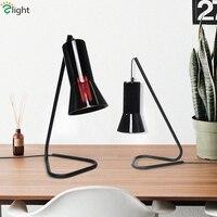 Современный творческий черный металл Edison E27 светодио дный красочная настольная лампа Стекло оттенков светодио дный настольная лампа прикр