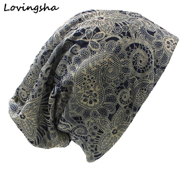 ファッションブランド秋冬デュアルユースヴィンテージカシューデザイン帽子用レディース薄いskulliesとビーニー女性スカーフフェイスマスクht016