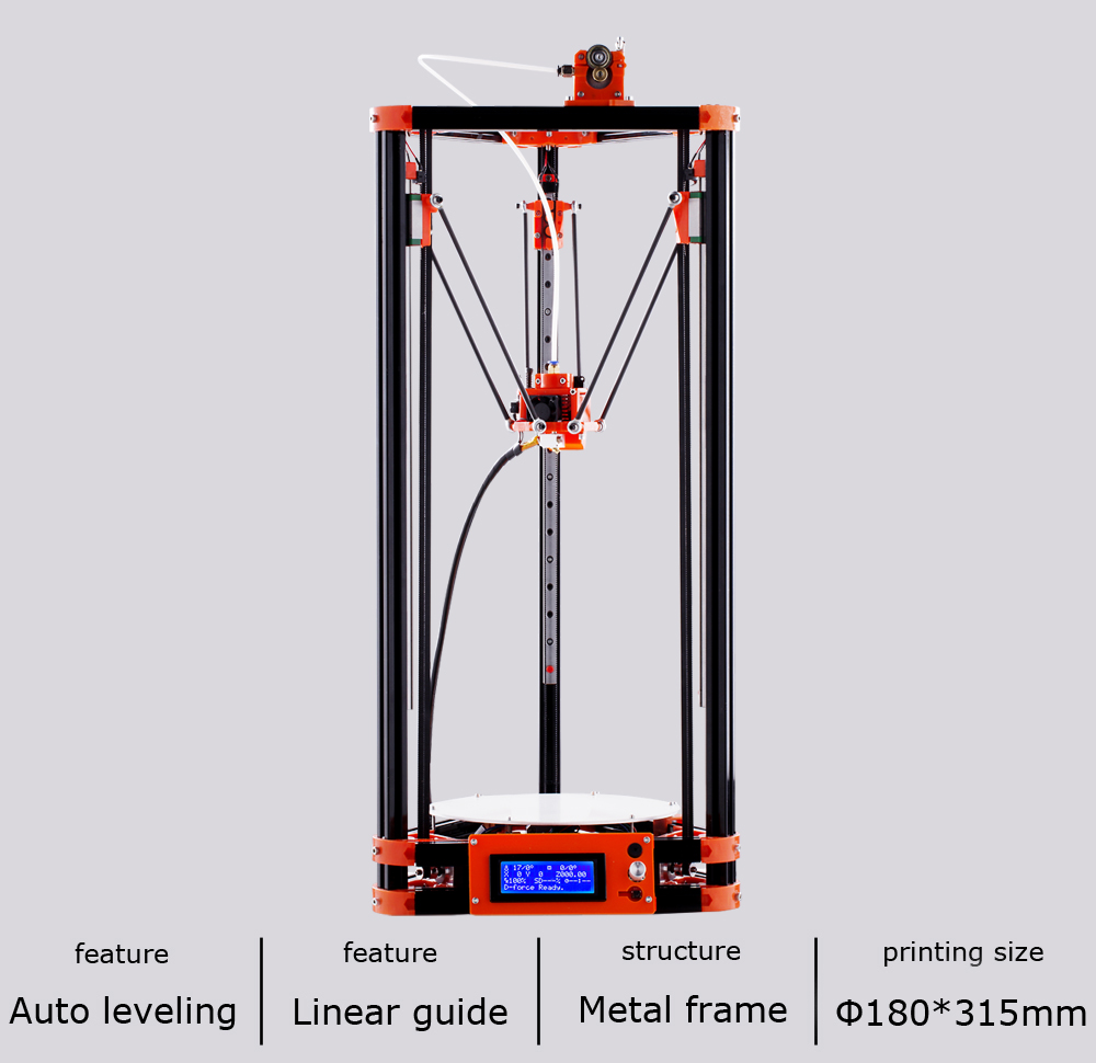2017 LCD Diy FLSUN 3d Metal Printer, Large Printing Size 3d-Printer 329 flsun 3d printer big pulley kossel 3d printer with one roll filament sd card fast shipping