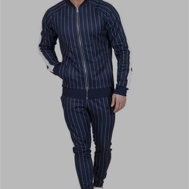 GYMOHYEAH Brand New Autumn Casual Men Sets Fashion Male Zipper Sweatshirt+Pants Tracksuit Fashionable Drawstring Sportwear Setu
