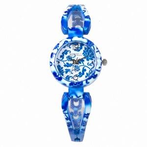 Image 5 - BEWELL relojes de Jade para mujer, reloj de pulsera con gemas, resistente al agua, regalo, amigos, 077A