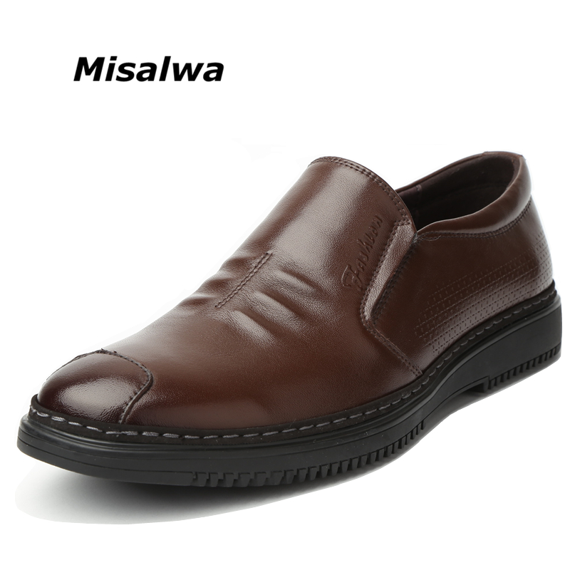 b47b0f0ea1f9 Misalwa 100% Genuine Leather Men Loafers Comfortable Durable Work Office  Shoes Luxury Brand Shoes Spring Autumn Men Shoes