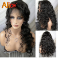 Deep Wave Glueless Full Lace Human Hair Wigs Brazilian Curly Lace Wigs U Part Wig Human Hair Lace Front Wigs With Baby Hair