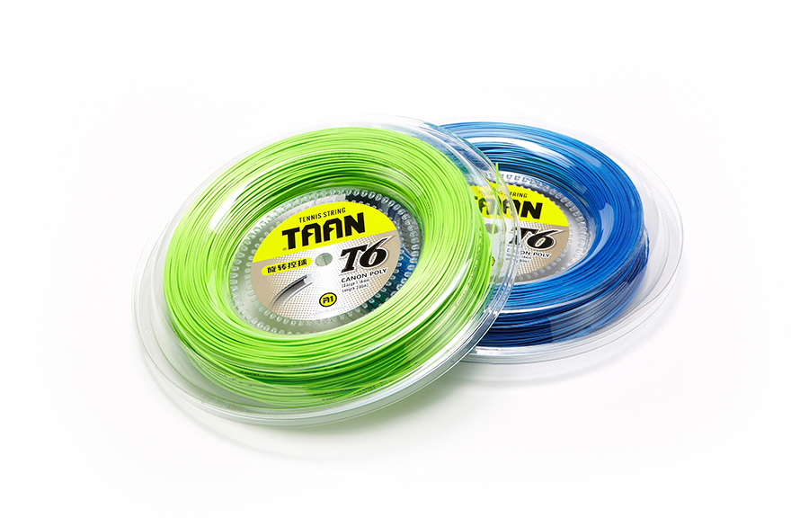 1 Roll TAAN T6 Poly Control Polyester Tennis Strings 1.18mm Circumrotate High Flexibility Tennis Strings 200M